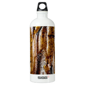 Rough abstract ceramic brown surface aluminum water bottle