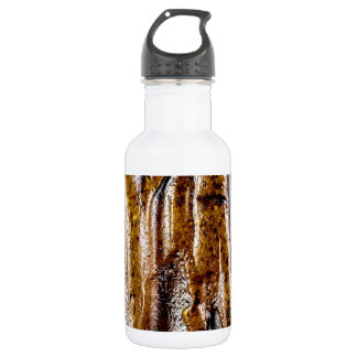 Rough abstract ceramic brown surface water bottle