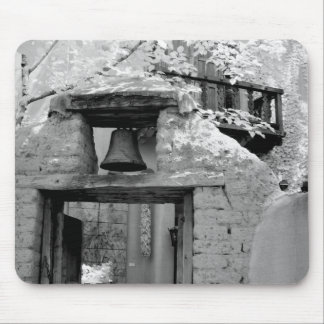 Rough adobe bell in entryway, Santa Fe, New Mouse Pad