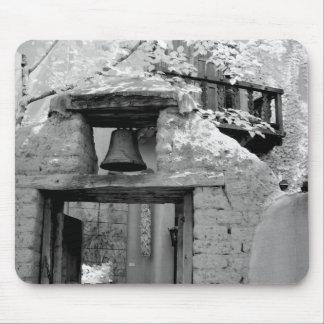 Rough adobe bell in entryway, Santa Fe, New Mousepad