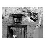 Rough adobe bell in entryway, Santa Fe, New Postcard