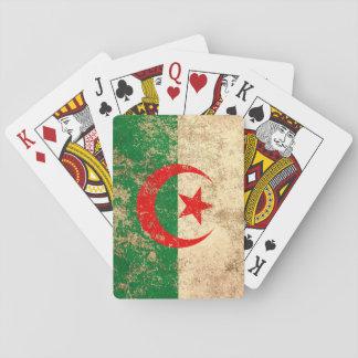 Rough Aged Vintage Algerian Flag Card Decks
