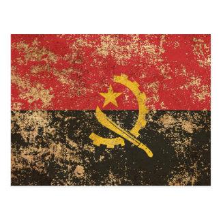 Rough Aged Vintage Angola Flag Postcard