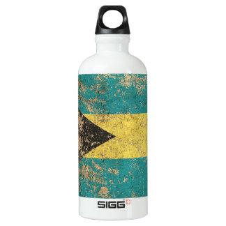 Rough Aged Vintage Bahamas Flag Water Bottle