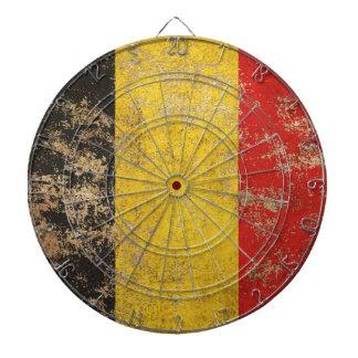 Rough Aged Vintage Belgian Flag Dartboard