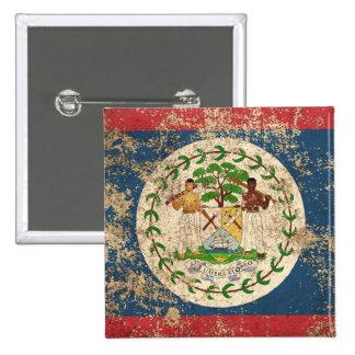 Rough Aged Vintage Belize Flag Pinback Button