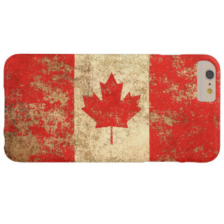Rough Aged Vintage Canadian Flag Barely There iPhone 6 Plus Case