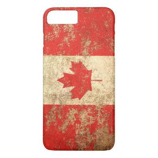 Rough Aged Vintage Canadian Flag iPhone 8 Plus/7 Plus Case