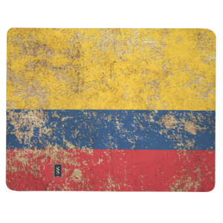 Rough Aged Vintage Colombian Flag Journal