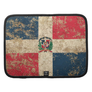 Rough Aged Vintage Dominican Flag Organizer