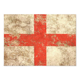Rough Aged Vintage English Flag Card