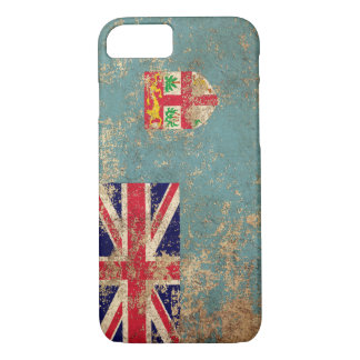 Rough Aged Vintage Fiji Flag iPhone 8/7 Case