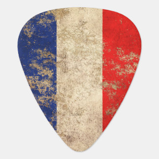 Rough Aged Vintage French Flag Guitar Pick