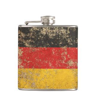 Rough Aged Vintage German Flag Hip Flask