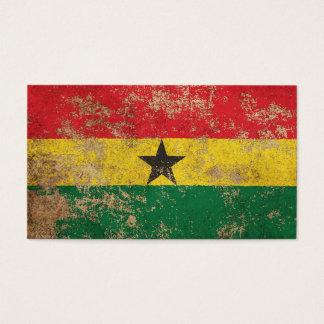 Rough Aged Vintage Ghana Flag Business Card