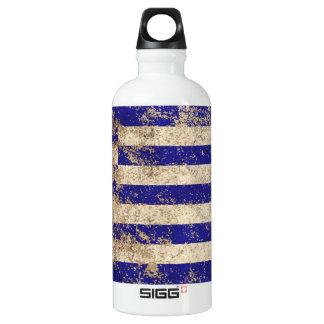 Rough Aged Vintage Greek Flag Water Bottle