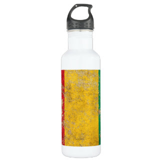 Rough Aged Vintage Guinea Flag Stainless Steel Water Bottle