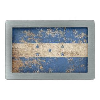 Rough Aged Vintage Honduras Flag Belt Buckle