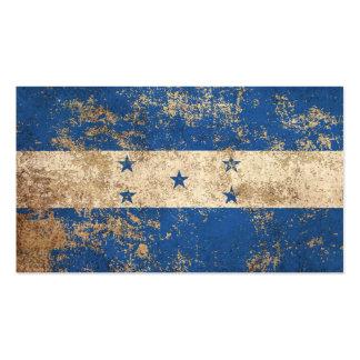 Rough Aged Vintage Honduras Flag Business Cards