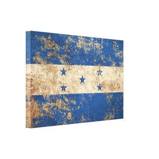 Rough Aged Vintage Honduras Flag Canvas Prints