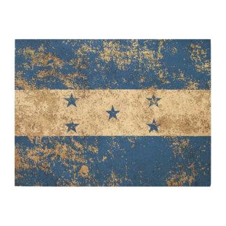 Rough Aged Vintage Honduras Flag Wood Prints