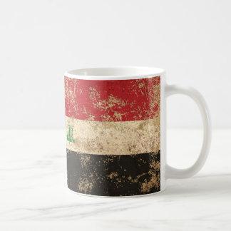 Rough Aged Vintage Iraqi Flag Coffee Mug