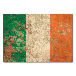 Rough Aged Vintage Irish Flag Card