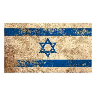 Rough Aged Vintage Israeli Flag Business Card