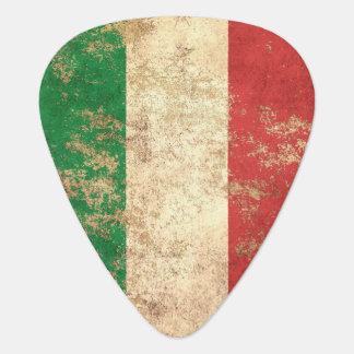 Rough Aged Vintage Italian Flag Guitar Pick