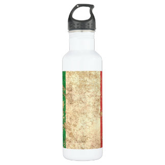 Rough Aged Vintage Italian Flag Water Bottle