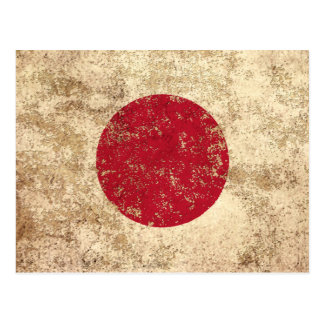 Rough Aged Vintage Japanese Flag Postcard