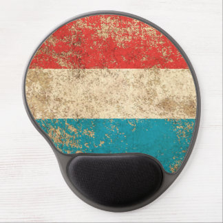 Rough Aged Vintage Luxembourg Flag Gel Mouse Mats