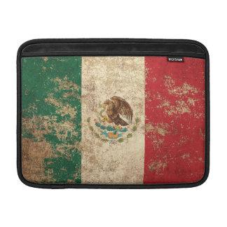Rough Aged Vintage Mexican Flag MacBook Air Sleeves