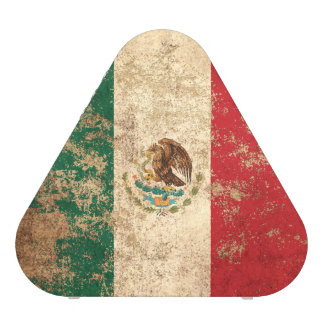 Rough Aged Vintage Mexican Flag Bluetooth Speaker