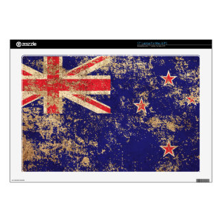 Rough Aged Vintage New Zealand Flag Laptop Skin