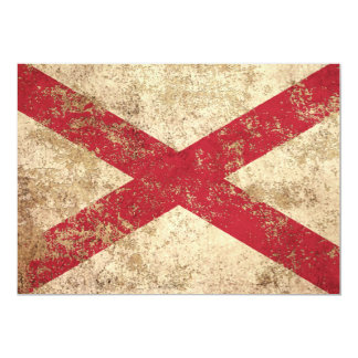 Rough Aged Vintage Northern Ireland Flag 5x7 Paper Invitation Card
