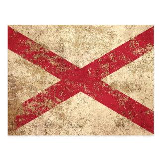 Rough Aged Vintage Northern Ireland Flag Postcard