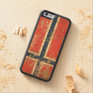 Rough Aged Vintage Norwegian Flag Carved® Maple iPhone 6 Bumper Case