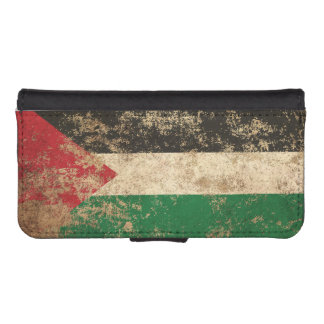 Rough Aged Vintage Palestinian Flag Phone Wallet Case