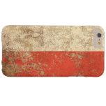Rough Aged Vintage Polish Flag iPhone 6 Plus Case