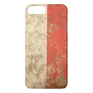 Rough Aged Vintage Polish Flag iPhone 7 Plus Case