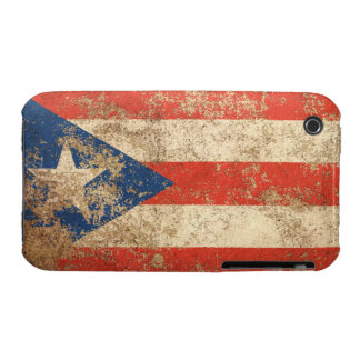 Rough Aged Vintage Puerto Rico Flag iPhone 3 Cases