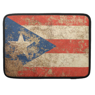Rough Aged Vintage Puerto Rico Flag Sleeves For MacBooks