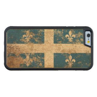 Rough Aged Vintage Quebec Flag Carved® Maple iPhone 6 Bumper