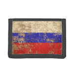 Rough Aged Vintage Russian Flag Wallet