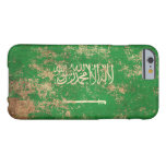 Rough Aged Vintage Saudi Arabian Flag Barely There iPhone 6 Case