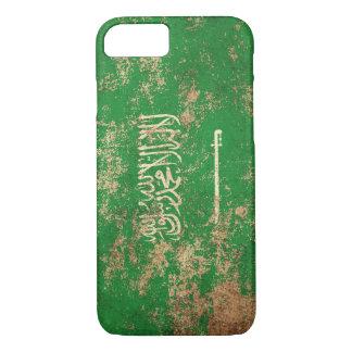 Rough Aged Vintage Saudi Arabian Flag iPhone 7 Case