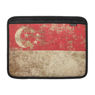 Rough Aged Vintage Singapore Flag Sleeve For MacBook Air