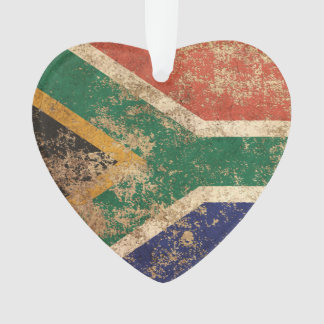 Rough Aged Vintage South African Flag