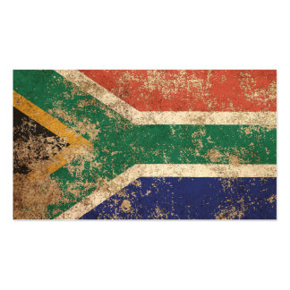 Rough Aged Vintage South African Flag Business Cards